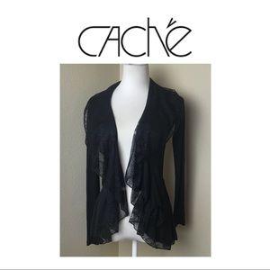 Cache Black Beautiful Cardigan. Sz XS